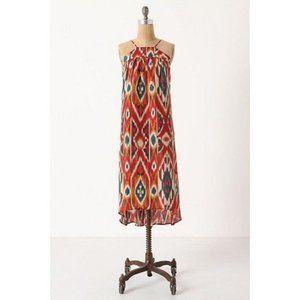 Anthropologie Saturday Sunday Ikat Silk Dress